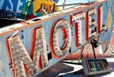 Huge discarded neon signs in Las Vegas
