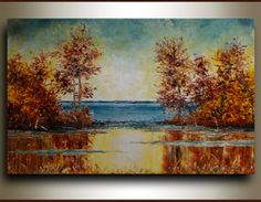 36 ORIGINAL art fall Landscape painting  by by studiomosaic, $250.00