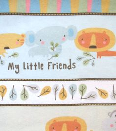 Snuggle Flannel Fabric My Little Friends