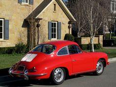 Porsche 356 C 1964 - Gorgeous in red! 1964 Porsche, Porsche 944, Porsche Cars, Vintage Porsche, Vintage Cars, Porsche Classic, Classic Cars, Ferdinand Porsche, Cars And Motorcycles