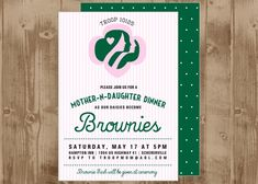 girl scout bridging | girl scouts party ideas | homespun hostess | bridging ceremony invitation