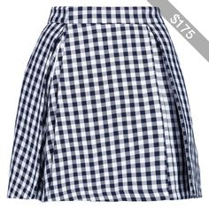 MSGM Gingham cotton-blend mini skirt