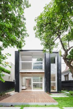 Double Bay House by Tribe Studio Architects Modern Architecture House, Modern House Design, Architecture Design, Design Exterior, Interior And Exterior, Studio Type Apartment, Small Modern Home, Beautiful Home Designs, Cottage Style Homes