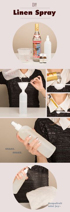 Easy DIY Linen Spray using doTERRA essential oils, vodka, and filtered water.  Easy and all-natural way to have your clothes smelling great!