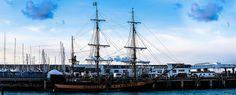 Pirate Ship In Dun Laoghaire ('Treasure Island' for the Sky 1 HD TV channel) Treasure Island, Dublin, Sailing Ships, Pirates, Channel, Boat, Sky, Explore, Heaven