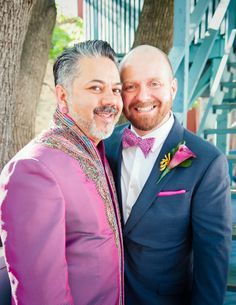 10a Indian Wedding portrait of gay multicultural couple