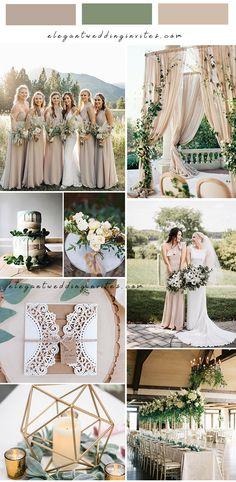 elegant beige and sage green garden wedding color inspiration Successful Marriage, Laser Cut Wedding Invitations, Trendy Wedding, Garden Wedding, Color Inspiration, Wedding Colors, Green Garden, Table Decorations, Bride