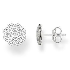f2a1cd6ab Thomas Sabo Silver Cut Out Flower Stud Earrings H1783-001-12 ...