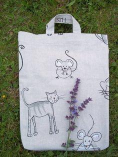 http://de.dawanda.com/shop/sonnenlicht Einkaufstaschen - Katzenfreundin Tasche - ein Designerstück von Silberbaum-und-Goldtau bei DaWanda