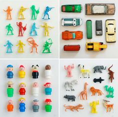love the idea of photographing collections. It makes moving on a little easier and gives you something to reflect upon. These shots backed with white paper and fresh, natural light make even a few small plastic toys look amazing.