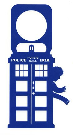 TARDIS Doctor Who Door Hanger Tom Baker 4th by ContourDsigns