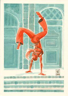 Encres : Capoeira - 28 [ #capoeira #ink #painting ]