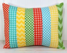 Pillow Cover Nursery Pillow Cover Patchwork Pillow Accent
