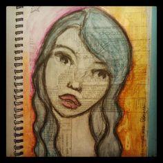 dream and create.: Quick sketch by Miranda Schmitz Art Journal Pages, Art Journaling, Brain Dump, Quick Sketch, Smash Book, Mixed Media Art, Zentangle, Drawings, Artist