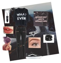 """""""Broken boy meets broken girl"""" by pappagyus02 ❤ liked on Polyvore featuring moda, Paige Denim, Vans, Bling Jewelry, ChloBo, Benefit, Chico's, women's clothing, women's fashion e women"""