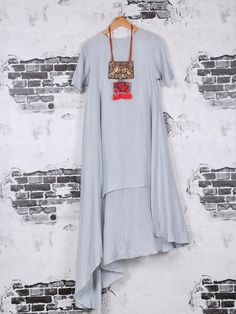 Shop Cotton plain kurti in grey color online from India. Indian Attire, Indian Wear, Indian Dresses, Indian Outfits, Plain Kurti, Kurti Styles, Western Outfits, Indian Designer Wear, Anarkali