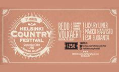 Helsinki Country Festival - Ravintola Kaisaniemi, Helsinki - 30.9.2017 - Tiketti