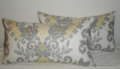 DecorativeAccentThrow  Set of Two Pillow by EllensDesigns on Etsy, $58.00