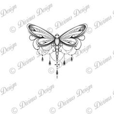 Dragonfly Tattoo Design and Stencil - Instant Digital Mandala Tattoo Design, Mandala Arm Tattoo, Dragonfly Tattoo Design, Lace Butterfly Tattoo, Dragonfly Drawing, Dragonfly Images, Up Tattoos, Body Art Tattoos, Small Tattoos