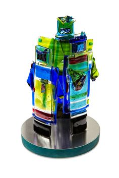 Thermofused glass art by Canadian sculptor Angela Verlaeckt Clark.
