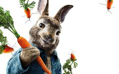 Download wallpapers 4k, Peter Rabbit, 3d-animation, 2018 movie, poster