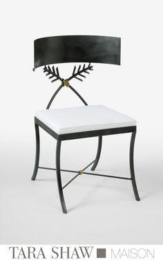 """Tara Shaw Maison """"Iron Klismos Chair"""""""