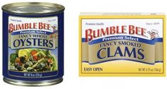 $1 off ANY (2) Bumble Bee Oyster or Clam Products Coupon! Read more at http://www.stewardofsavings.com/2014/11/1-off-any-2-bumble-bee-oyster-or-clam.html#hPhyaphOLsRlRoSR.99