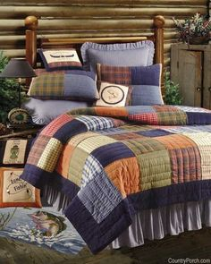 Northern Plaid Patchwork Quilts Bedding - Best Sales and Prices Online! Home Decorating Company has Northern Plaid Patchwork Quilts Bedding Plaid Bedding, Plaid Quilt, Quilt Bedding, Boy Bedding, Daybed Bedding, Duvet, Unique Home Decor, Cheap Home Decor, Colchas Country