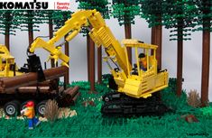 PC 240LL-10 log loader. Contains several functions from the real machine.