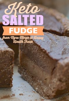 [Non-Blender] Keto Salted Fudge from The Happy Healthy Freak! | This recipe is so delicious that even your non-vegan friends and family members will beg for the recipe! This fudge recipe is suitable for a vegan diet as well as a paleo or ketogenic diet plan.
