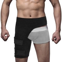 03eec4300f $11.11 AUD - Thigh Support Compression Brace Wrap Black Sprains Therapy  Groin Leg Pain Hip #ebay #Fashion