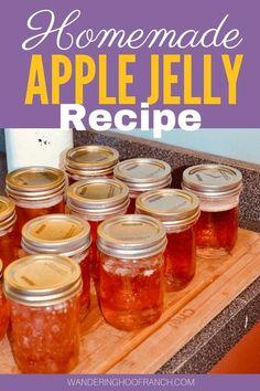 Jelly Recipes, Jam Recipes, Canning Recipes, Apple Recipes, Recipies, Canning Apples, Easy Canning, Canning Vegetables, Bath Jellies