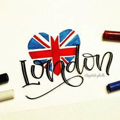 London - Day 3 of #brushletterpracticechallenge