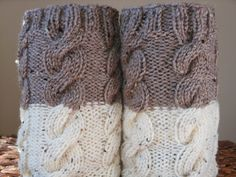 Hand Knitted Boot Cuffs Leg Warmers 2in1 Cream and by MyKnitCroch, $26.00 LOVE LOVE