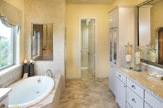 You deserve a #master #bathroom like this with #spa-like #amenities to enjoy at any time!