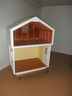 American Girl Dollhouse Handbuilt Cottage and Attic | by comandantehoop via eBay Asking $800 + 300 Shipping