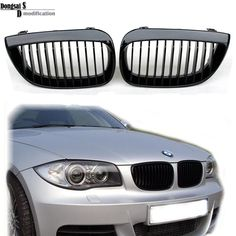 Glossy M Color for BMW 1 Series E82 E88 Front Kidney Grille 2008 ...