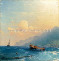 Aivazovsky, the sea, beautifull weves and clouds