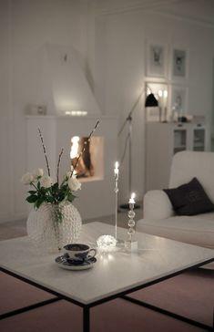 Christmas evening lighting | The House of Philia, December 2013 [Original post in Swedish]