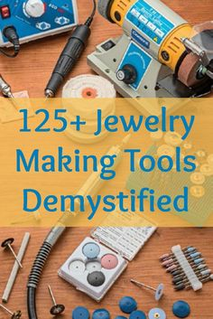 Jewelry Making Projects You Have to Make Ultimate, FREE guide to over 125 jewelry making tools so you can start making jewelry like a PRO!Ultimate, FREE guide to over 125 jewelry making tools so you can start making jewelry like a PRO! Jewelry Tools, Metal Jewelry, Jewelry Crafts, Gold Jewelry, Beaded Jewelry, Jewelry Websites, Jewelry Ideas, Pandora Jewelry, Jewelry Shop