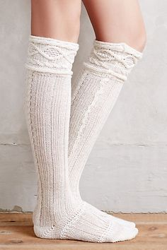 Cabled Over-the-Knee Boot Socks from Anthropologie