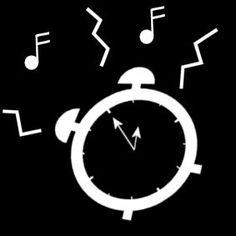 Pictogram: alarm clock going off
