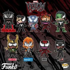 New Venom funko pops Marvel Dc, Marvel Heroes, Marvel Venom, Venom Spiderman, Disney Marvel, Spiderman Pop, Venom Comics, Pop Heroes, Lego Disney