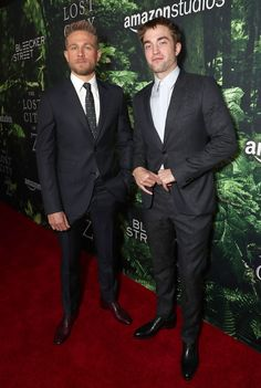 "Charlie Hunnam & Robert Pattinson at ""The Lost City of Z"" LA premiere"