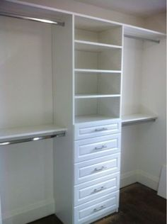 This Is EXACTLY What I Need In Our Soon To Be Master =) Only I Would Make Shelving Go All The Way Down && Have Shoe Racks Across The Flooring!!!