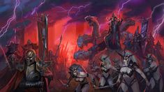 The day after their chilling reveal trailer, the Dark Elf army roster has been revealed for Creative Assembly's forthcoming Total War: Warhammer II. Here's everything we know about Total War: Warhammer 2 so far. Warhammer Fantasy, Total Warhammer, Warhammer Dark Elves, Warhammer Art, Warhammer Armies, Warhammer 40000, Fantasy Heroes, Fantasy Battle, Medieval Fantasy