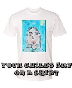 Your Childs ART on a shirt!   Great Christmas Gift  Tanks or Tees by shirtsforlife on Etsy