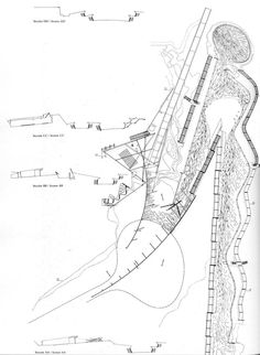 PLANS OF ARCHITECTURE (Enric Miralles, Carme Pinos, Igualada Cemetary,...)