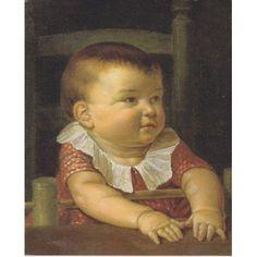 Portrait of Otto Sigismund the artists son 1805 Canvas Art - Philipp Otto Runge (18 x 24)
