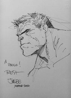 Hulk sketch | Jim Lee